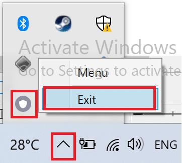 Nhấp vào Thoát hoặc một tùy chọn tương tự    Khắc phục 'PC không hỗ trợ Miracast'