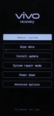 Sử dụng nút Giảm âm lượng để điều hướng đến tùy chọn Recovery Mode và nhấn phím Nguồn để xác nhận.