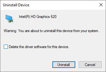 """Bây giờ, một lời nhắc cảnh báo sẽ được hiển thị trên màn hình.  Chọn hộp """"Xóa phần mềm trình điều khiển cho thiết bị này"""" và xác nhận lời nhắc bằng cách nhấp vào Gỡ cài đặt."""