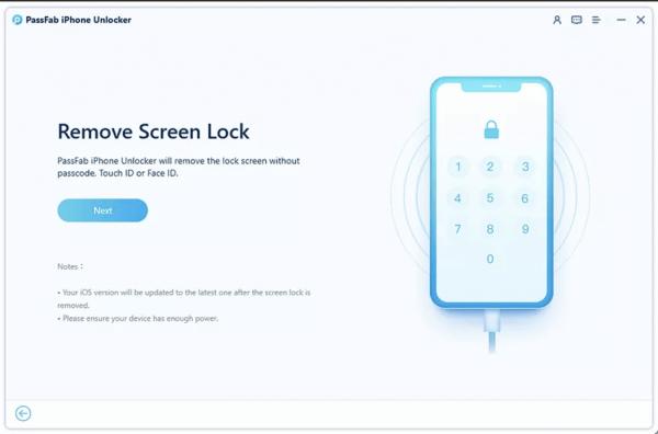 PassFab iPhone Unlocker Bước 2
