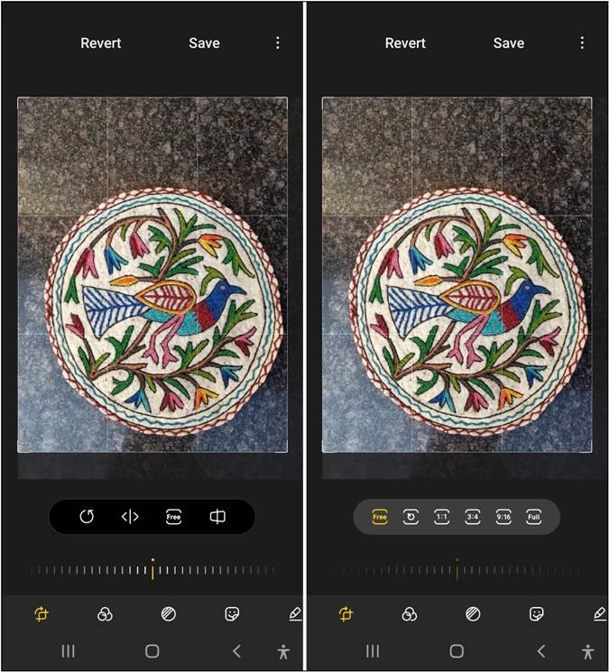 Kích thước tiêu chuẩn của Samsung Gallery Crop Photo