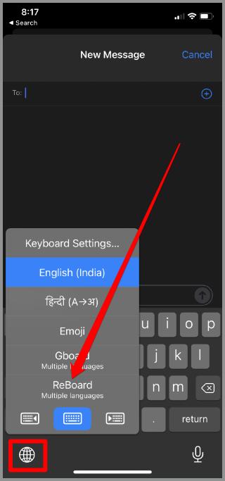 Chuyển đổi bàn phím trên iPhone