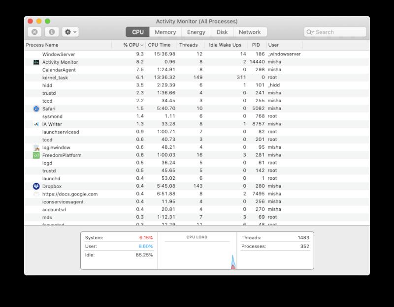 ứng dụng giám sát hoạt động camera mac