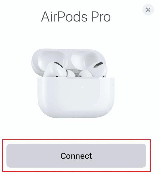 Nhấn vào nút Kết nối để AirPods được ghép nối lại với iPhone.