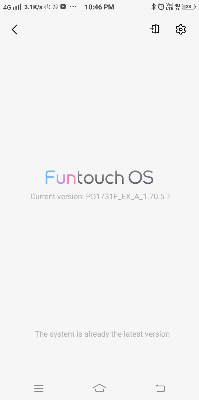 Nếu thiết bị đã được cập nhật lên phiên bản mới nhất, nó sẽ hiển thị Hệ thống đã là phiên bản mới nhất