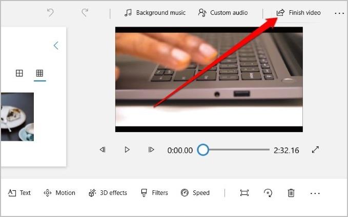 Lưu video đã chỉnh sửa trong Microsoft Photos