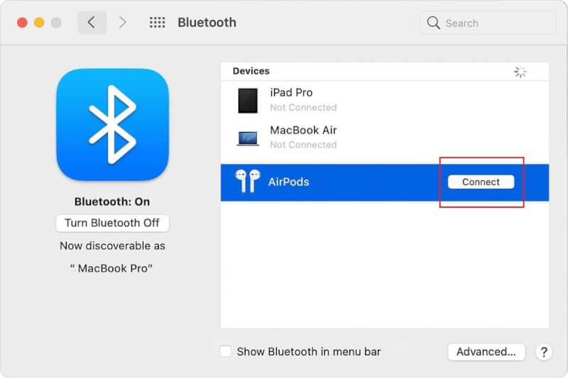 Kết nối Airpods với Macbook