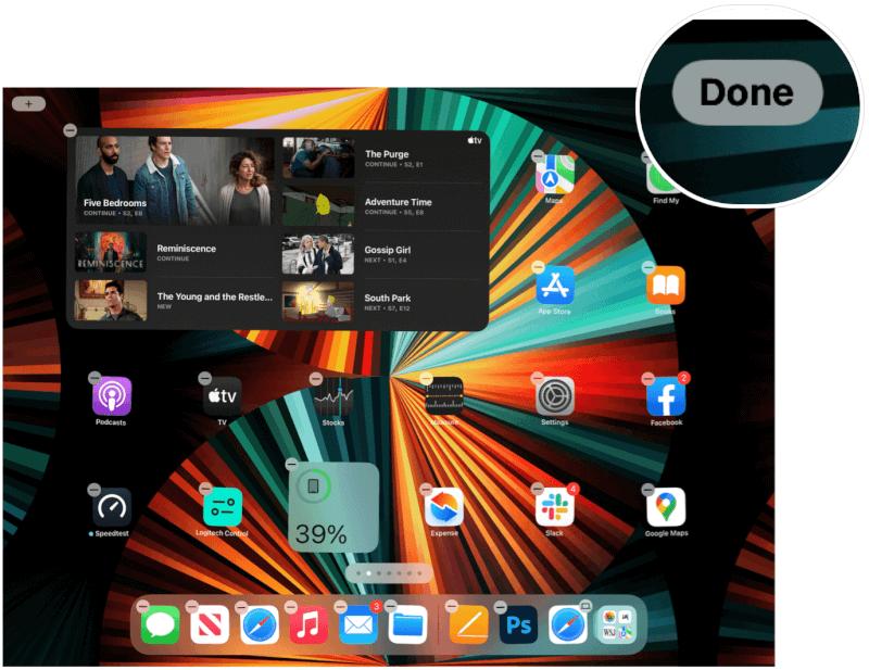 iPad thêm tiện ích