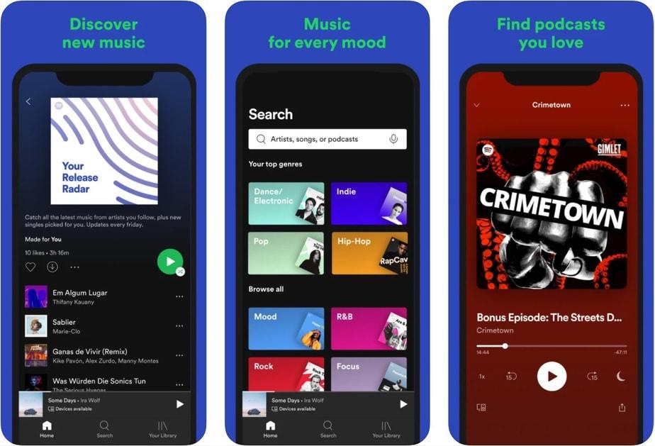ứng dụng máy nghe nhạc iphone