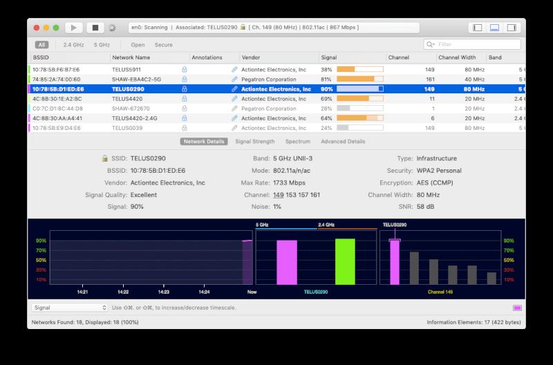wifi explorer mac sửa lỗi kết nối mạng