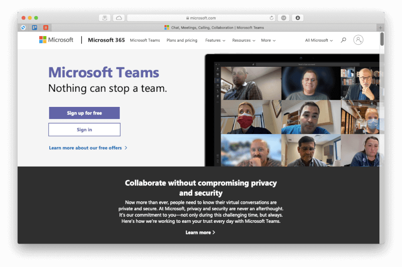 Cuộc gọi hội nghị Microsoft Teams Mac