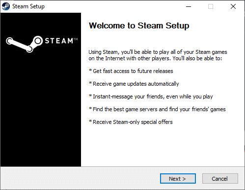 nhấp vào Tiếp theo trong thiết lập Steam.  Sửa lỗi Fallout 3 Ordinal 43 Không tìm thấy
