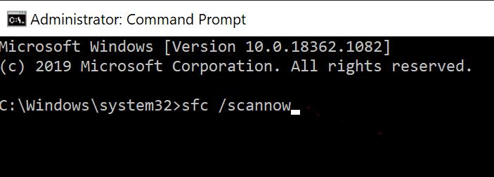 Nhập lệnh sau và nhấn Enter: sfc / scannow Khắc phục sự cố Command Prompt Xuất hiện rồi Biến mất trên Windows 10
