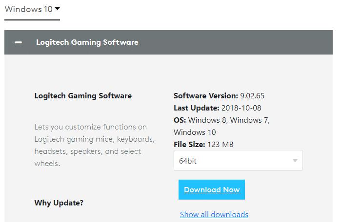 Nhấp vào liên kết đính kèm tại đây để cài đặt phần mềm chơi game Logitech trên hệ thống.
