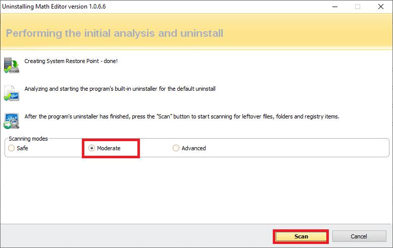 Nhấp vào quét để hiển thị tất cả các tệp lefover trong sổ đăng ký.  cách khắc phục Lỗi Hamachi Tunnel trong Windows 10
