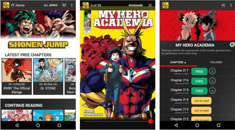 ứng dụng đọc truyện tranh miễn phí
