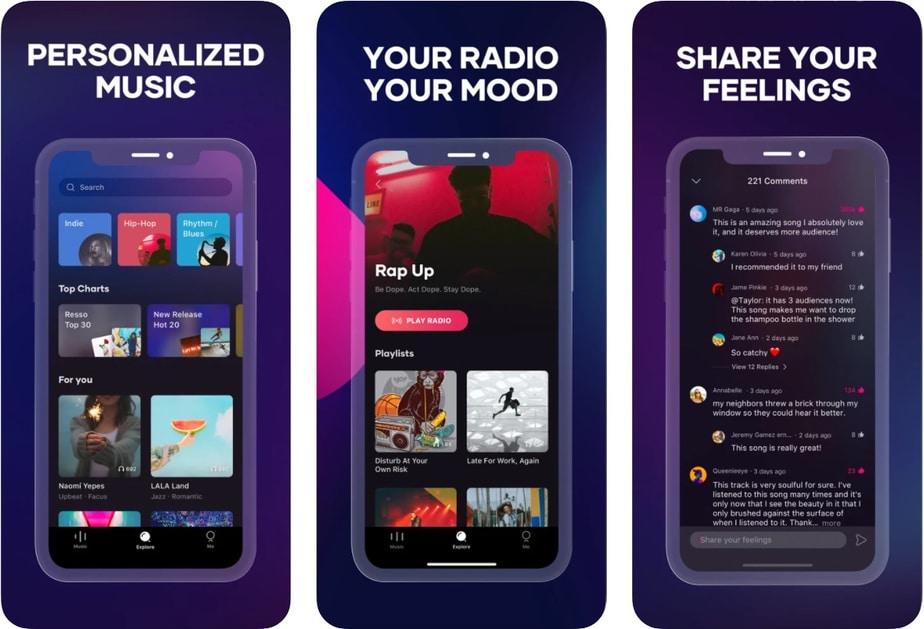 máy nghe nhạc miễn phí cho iphone