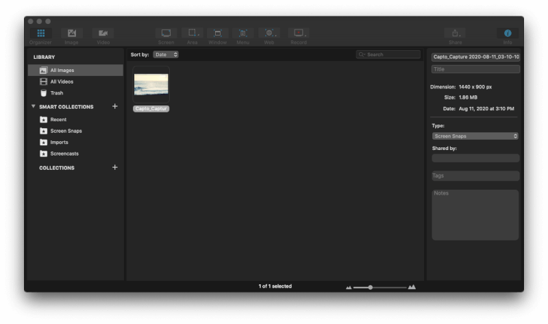 Capto ghi màn hình Mac