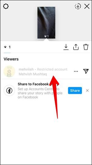 phần xem câu chuyện trong instagram