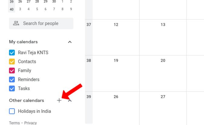 Thêm lịch mới trên Lịch Google