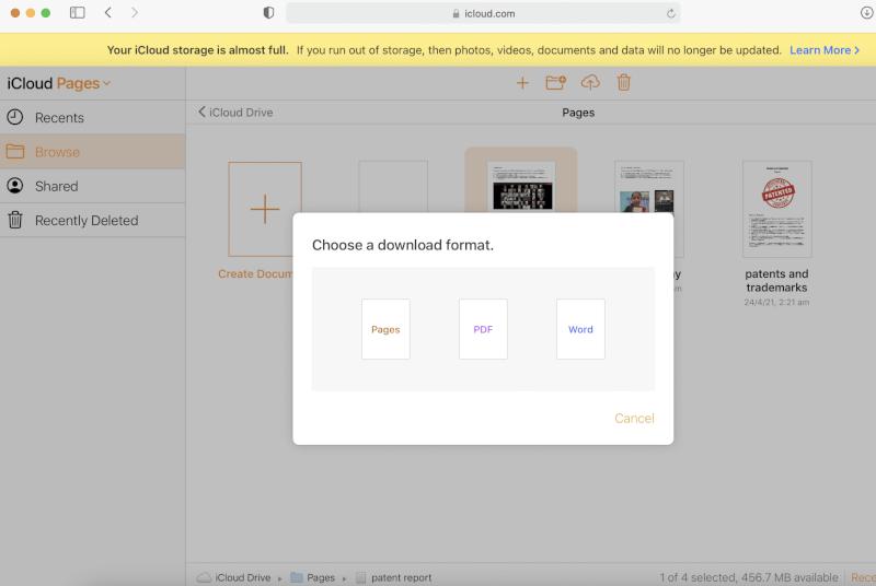 Trong số tất cả các định dạng, hãy chọn Word |  Cách mở tệp trang trên Windows 10