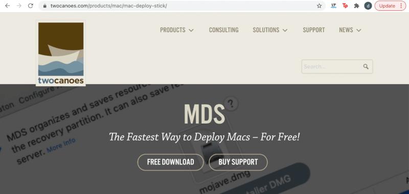 ứng dụng mds.  Sửa lỗi cài đặt macOS không thành công