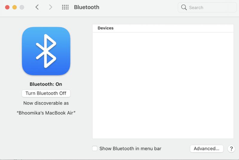Chọn Bluetooth và nhấp vào Tắt.  Cách đặt lại AirPods