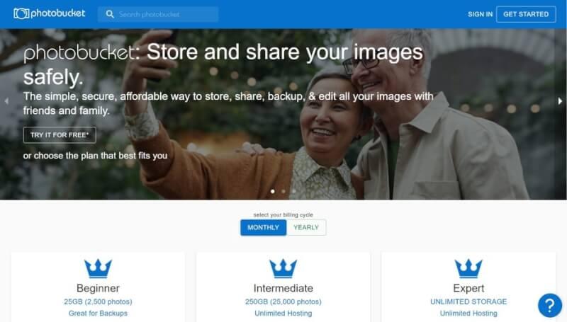 trang web ảnh như flickr