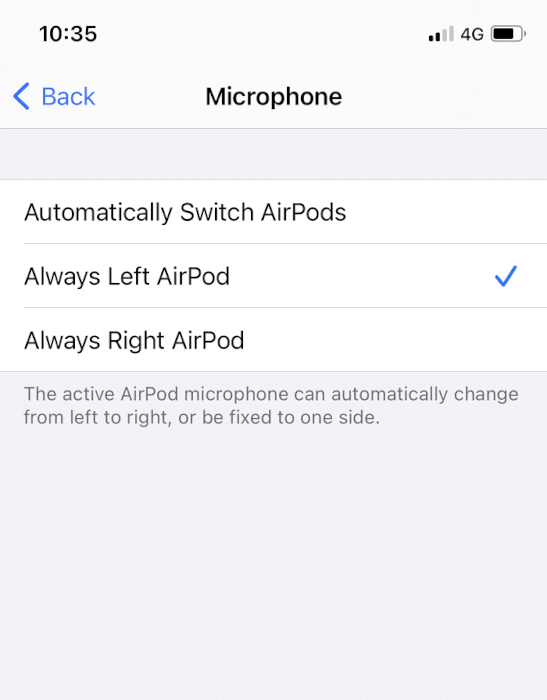 Chọn AirPod Luôn Trái hoặc Luôn Phải