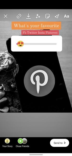 Cuộc thăm dò ý kiến trên Instagram Thêm câu hỏi về Thanh trượt biểu tượng cảm xúc