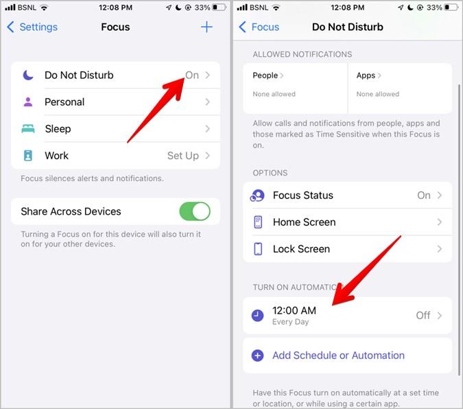Sửa lỗi iPhone không thể nhận cuộc gọi Chế độ lấy nét