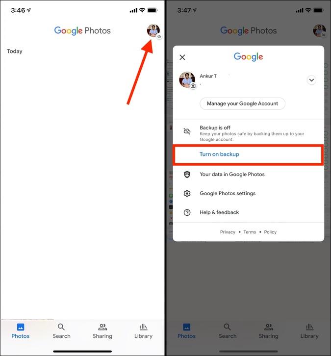 Bật tính năng sao lưu trong Google Photos trên iPhone để quản lý Bộ nhớ iCloud