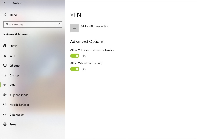 tắt VPN
