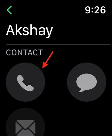 chọn số liên lạc bạn muốn gọi