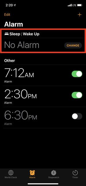 Báo thức giờ đi ngủ hoặc lịch ngủ trong ứng dụng Đồng hồ trên iPhone