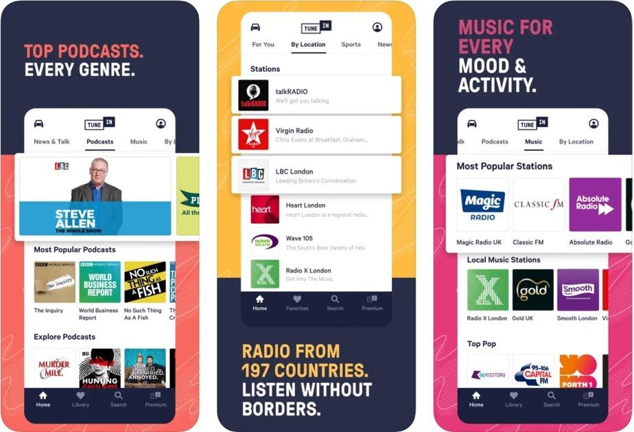 ứng dụng máy nghe nhạc cho iphone