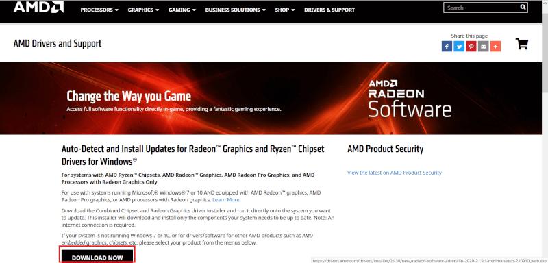 tải xuống trình điều khiển AMD