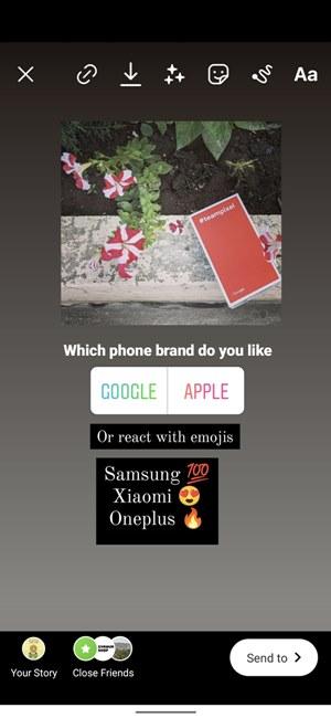 Phản ứng nhanh của cuộc thăm dò ý kiến trên Instagram và hình dán cuộc thăm dò ý kiến