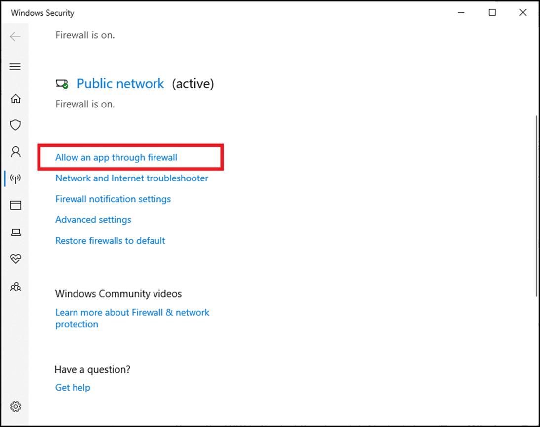 Tại đây, nhấp vào Cho phép ứng dụng thông qua tường lửa    Cách khắc phục Logitech Gaming Software không mở trên PC chạy Windows