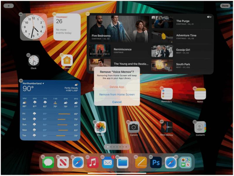 iPad loại bỏ ứng dụng