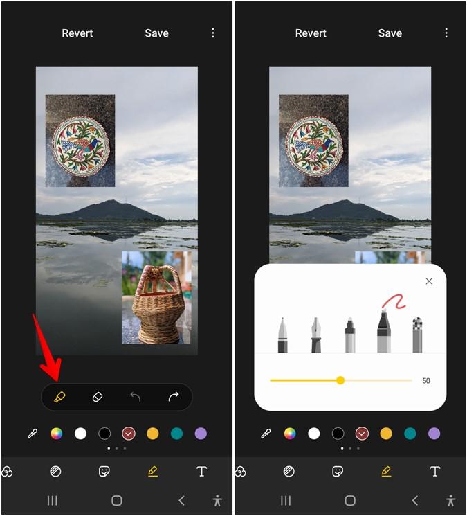 Bàn chải thay đổi Doodle Gallery của Samsung