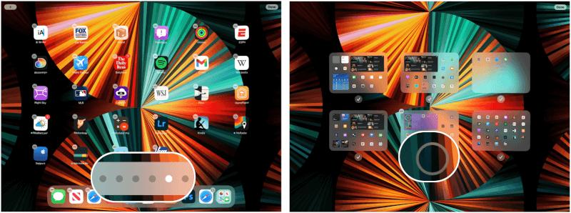 iPad điều chỉnh màn hình chính
