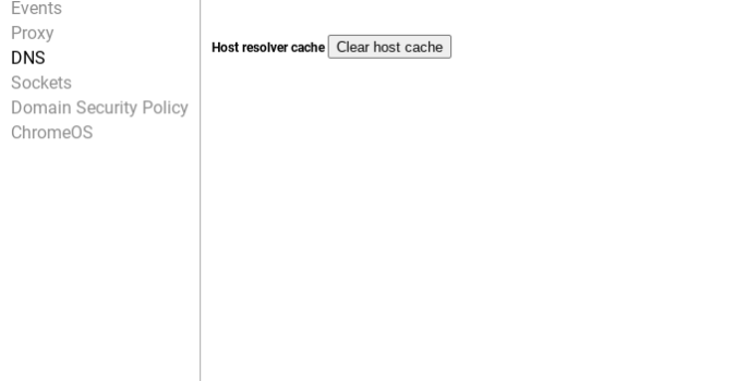 Xóa DNS Cache trên Chromebook