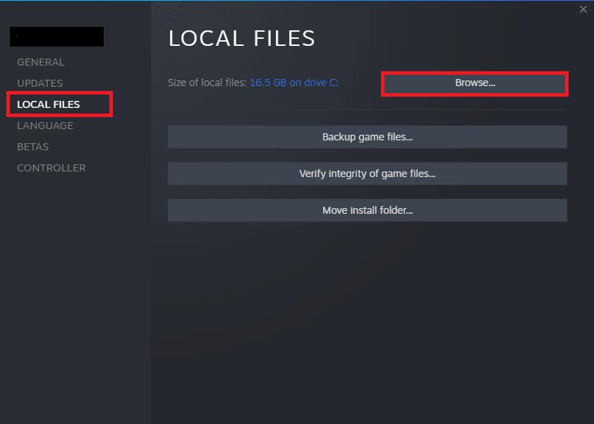 Bây giờ, điều hướng đến tab LOCAL FILES và nhấp vào tùy chọn Browse… để tìm kiếm các tệp cục bộ trên máy tính