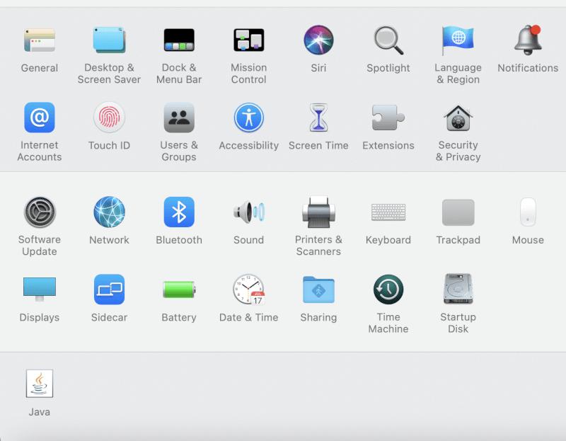Mở menu Apple và chọn Tùy chọn Hệ thống.  Tại sao Internet trên máy Mac của tôi lại quá chậm.