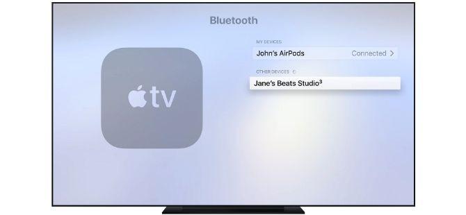 Cách ghép nối AirPods với Apple TV