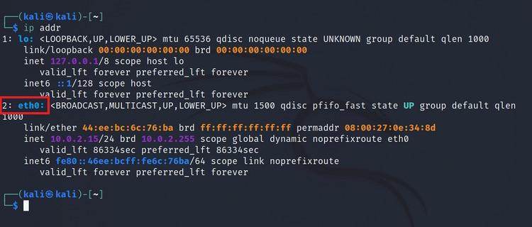 lấy tên giao diện mạng linux