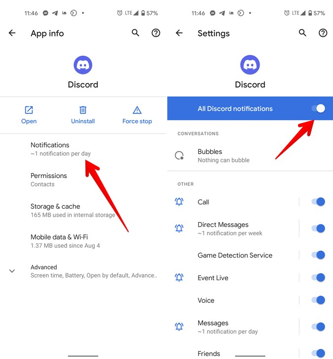 Thông báo Discord Bật cài đặt Android