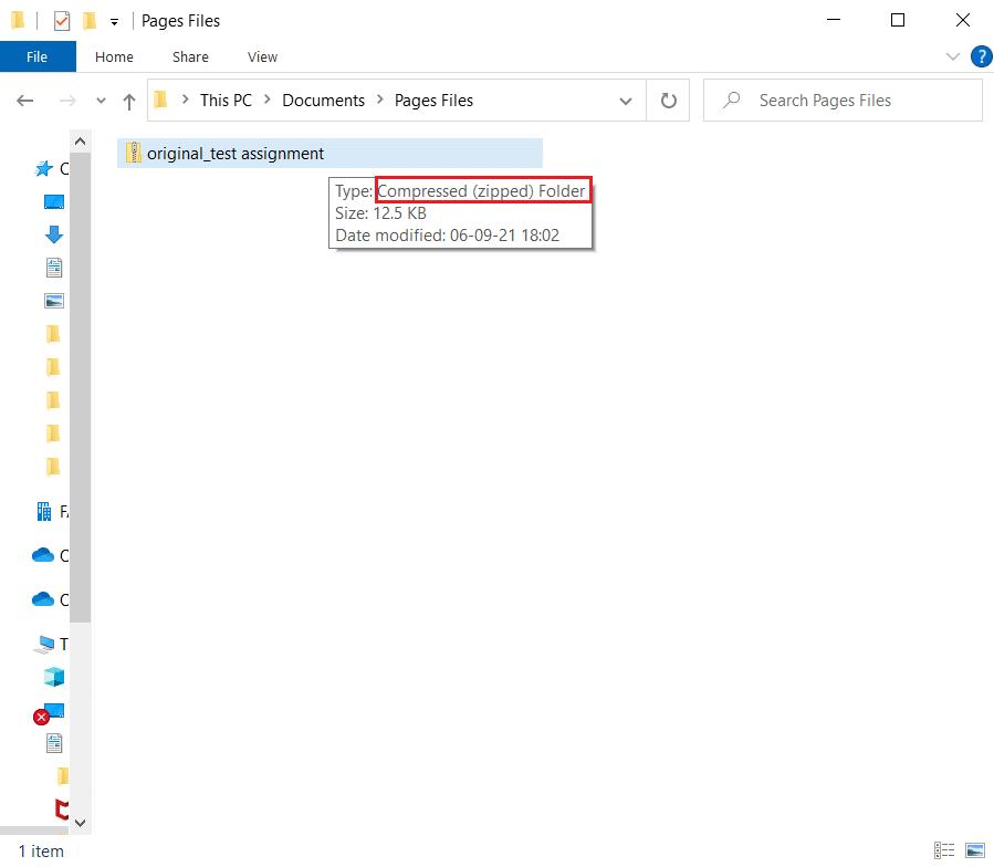 Chuyển đổi tệp trang thành tệp zip