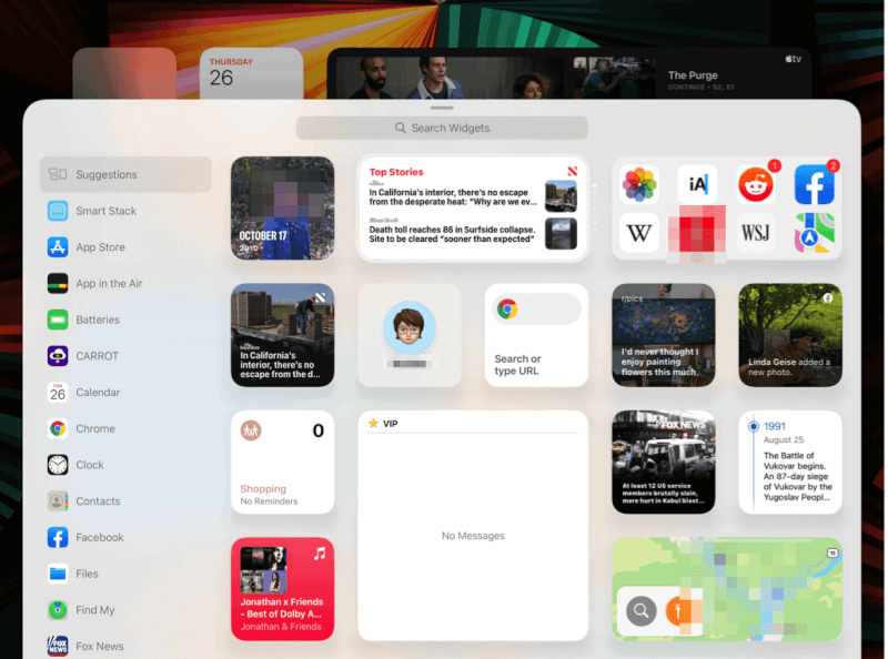 tiện ích iPad